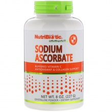 Витамины NutriBiotic Sodium Ascorbate Vitamine C, antioxidant & collagen support 227 гр